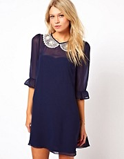 Love Dress with Embellished Collar