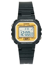 Casio Plastic Mini Watch With Orange Face