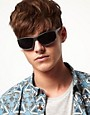 Image 3 ofASOS Matt Finish Large Wrap Sunglasses
