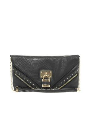 Image 1 ofNew Look Paris-Padlock Clutch
