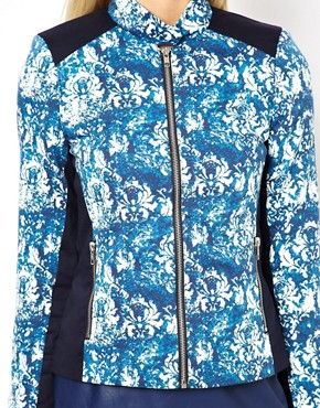 Image 3 ofASOS PETITE Exclusive Printed Jacket With Panel Detail
