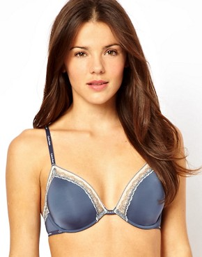 Image 1 of Calvin Klein Perfectly Fit Underwired Bra With Lace