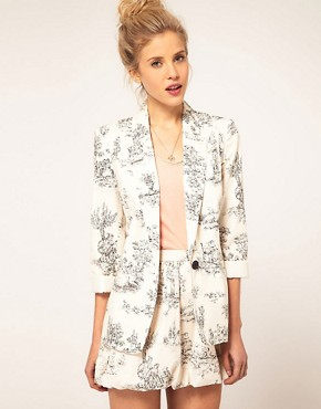 Image 1 ofASOS Blazer in Scenic Print