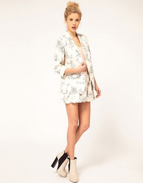 Image 4 ofASOS Blazer in Scenic Print
