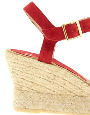 Image 2 ofASOS HIGHLIFE Suede Pointed Espadrille Wedges