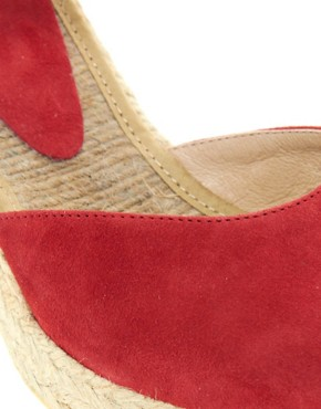 Image 3 ofASOS HIGHLIFE Suede Pointed Espadrille Wedges
