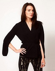 Unconditional Kimono Front Cardigan With Split Sleeves