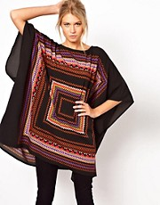 ASOS Tunic in Geo Placement Print