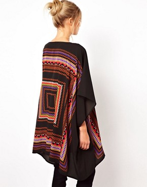 Image 2 ofASOS Tunic in Geo Placement Print