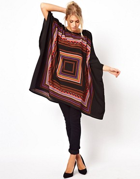 Image 4 ofASOS Tunic in Geo Placement Print
