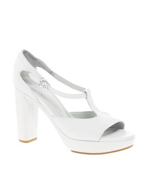 Image 1 ofSee By Chloe T Bar Heeled Leather Sandal