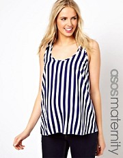 ASOS Maternity Woven Tank in Stripe