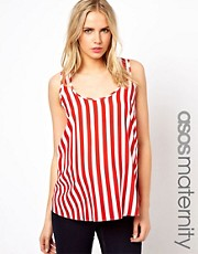 ASOS Maternity Woven Vest in Stripe