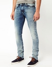 Diesel - Shioner 0806 - Jeans skinny con lavaggio chiaro