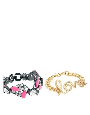 Image 2 ofASOS Love Bracelet Multipack