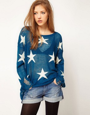 Image 1 ofWildfox Seeing Star Jumper