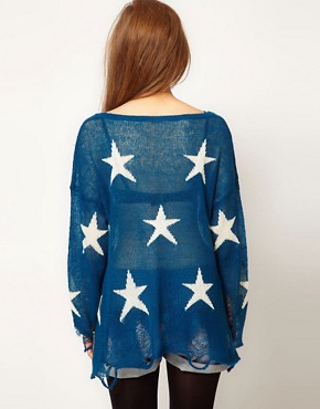 Image 2 ofWildfox Seeing Star Jumper