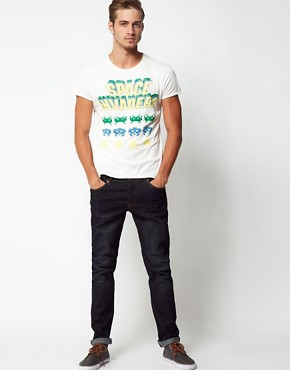 Image 4 ofJack &amp; Jones T-Shirt with Space Invaders Print