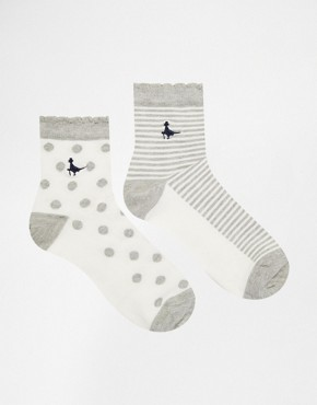 Jack Wills Allastone 2 Pack Socks