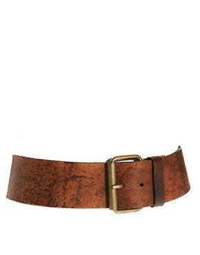 Image 1 of Black & Brown London Helen Leather Wide Waist Belt