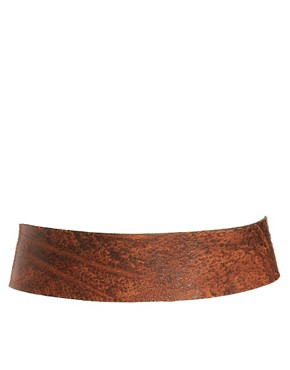 Image 3 of Black & Brown London Helen Leather Wide Waist Belt