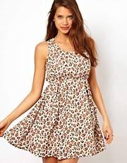 Rare Stud Pocket Dress In Leopard Print