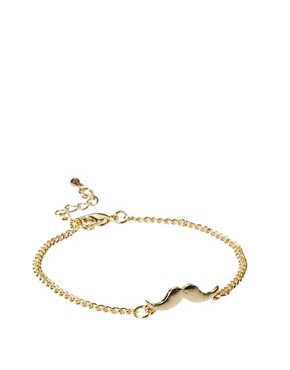 Image 1 ofASOS Fine Moustache Charm Bracelet