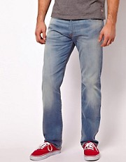 Levis Jeans 504 Straight Fit Bleach Wave