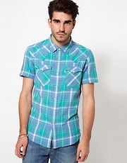 Levis Shirt Barstow Short Sleeve Check Shirt Slim Fit