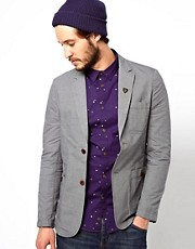 Farah Vintage Blazer in Linen Mix