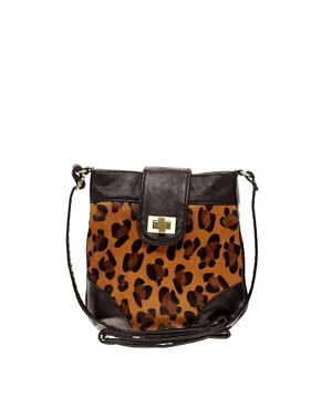 Image 1 of Oasis Leopard Cross Body Bag