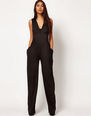 Image 1 ofAqua Shuffle Bodice Jumpsuit