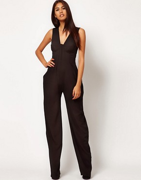 Image 4 ofAqua Shuffle Bodice Jumpsuit