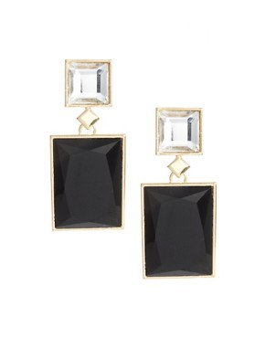 Image 1 ofASOS Rectangle Doorknocker Earrings