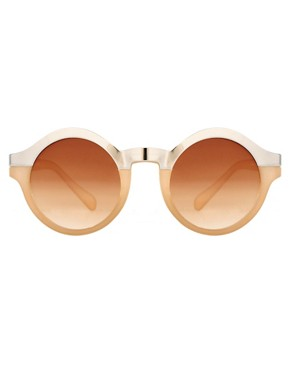 Image 2 ofASOS Metal Top Keyhole Round Sunglasses.