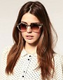 Image 3 ofASOS Metal Top Keyhole Round Sunglasses.