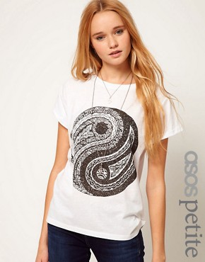 Image 1 ofASOS PETITE Ying Yang Tee