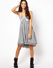 ASOS Sundress In Cut About Stripe