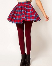 ASOS 80 Denier Burgundy Tights