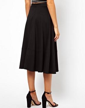 Image 2 ofASOS Midi Skirt In Ponte
