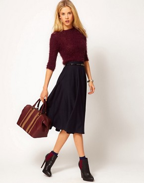 Image 1 ofASOS Midi Skirt In Ponte