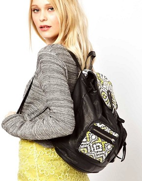 Image 3 ofNew Look Ikat Pocket Backpack