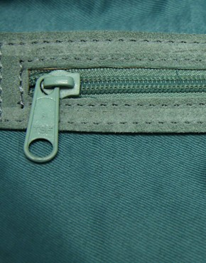 Image 2 ofASOS Leather And Suede Tucklock Satchel