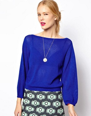 Image 1 of Mademoiselle Tara Airtex Knit in Yves Klein Blue