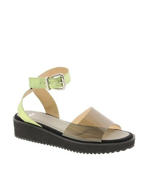 Image 1 ofASOS VACUUM Flatform Sandals