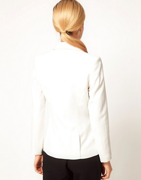 Image 2 ofASOS PETITE Exclusive Blazer With Contrast Lapel