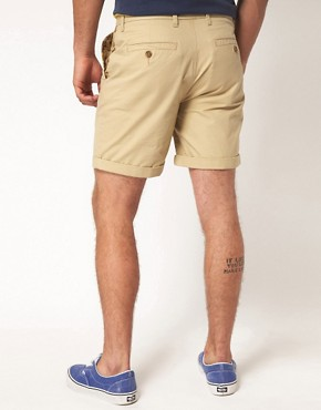 Image 2 ofASOS Chino Shorts With Camo Pockets