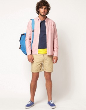 Image 4 ofASOS Chino Shorts With Camo Pockets