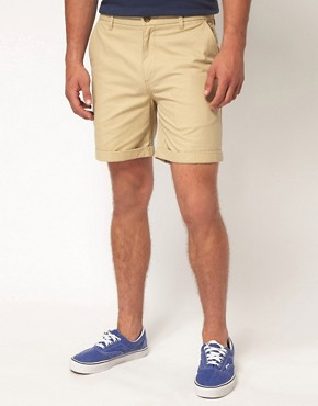 Image 1 ofASOS Chino Shorts With Camo Pockets