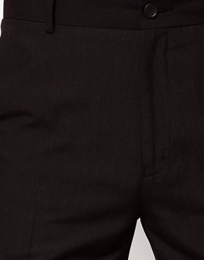 Image 3 ofASOS Straight Fit Black Smart Trousers